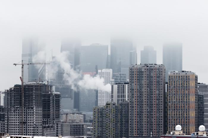 Московские туманы Фотография, Город, Москва, Москва-Сити, Туман