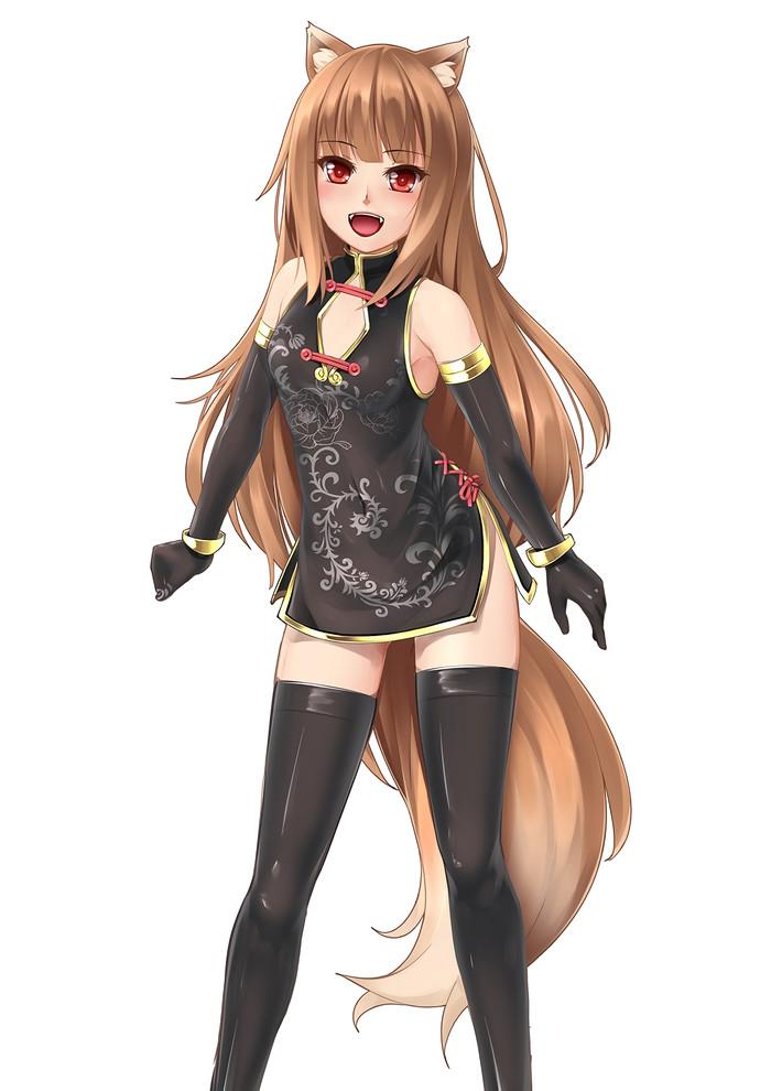 Horo/Holo Аниме, Арт, Anime Art, Волчица и пряности, Animal Ears, Длиннопост, Horo Holo