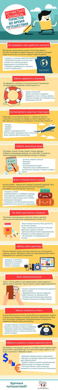 10 частых ошибок туристов [Инфографика] Путешествия, Отдых, Длиннопост