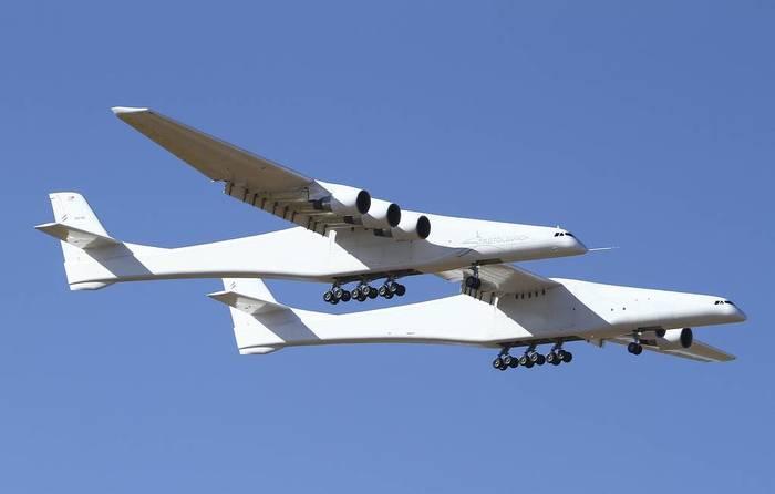 """Первый полёт летающего космодрома «Stratolaunch"""" Стратолонч, Stratolaunch, Космодром, Длиннопост"""