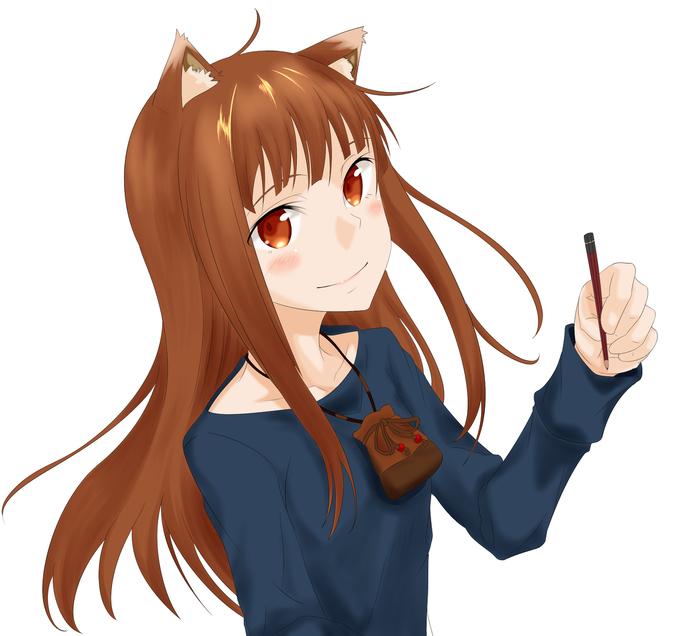 Холочка Anime Art, Аниме, Horo Holo, Волчица и пряности