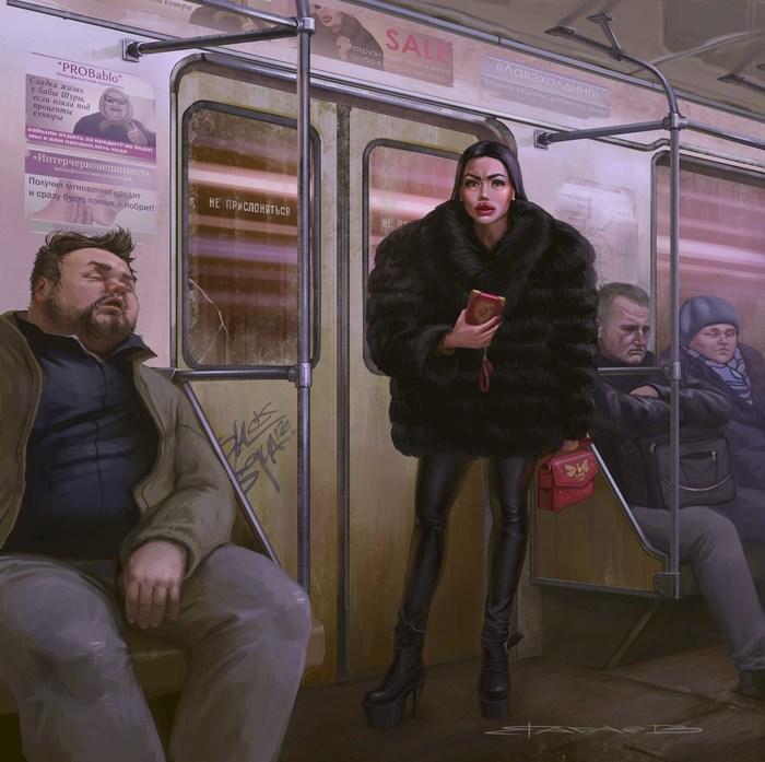 Мои веселые картинки! Россия, Екатеринбург, Живопись, Вачаев, Социальное, Люди, Длиннопост