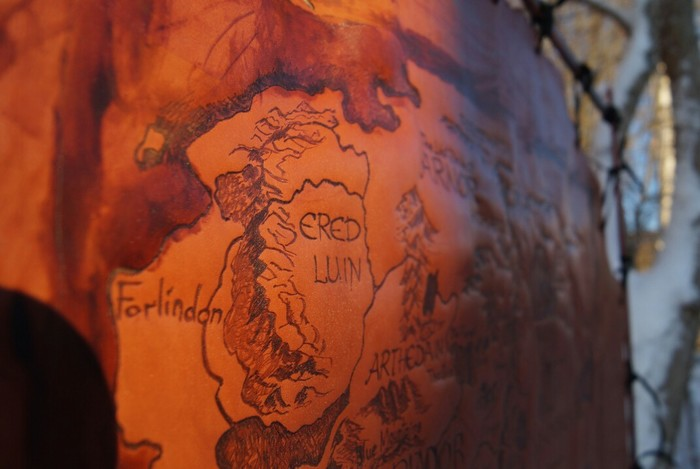 Карта средиземья. Натуральная кожа. Пирография. Карта средиземья, Рукоделие без процесса, Картина, Изделия из кожи, Кожевенное ремесло, Длиннопост