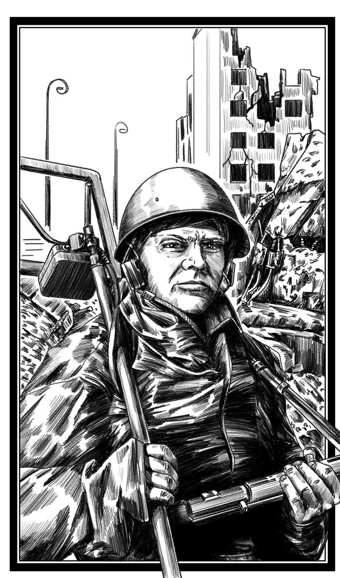 Сапёр Сапер, Великая Отечественная Война, Берлин, Арт, Графика, Krita, Цифровой рисунок, Рисунок