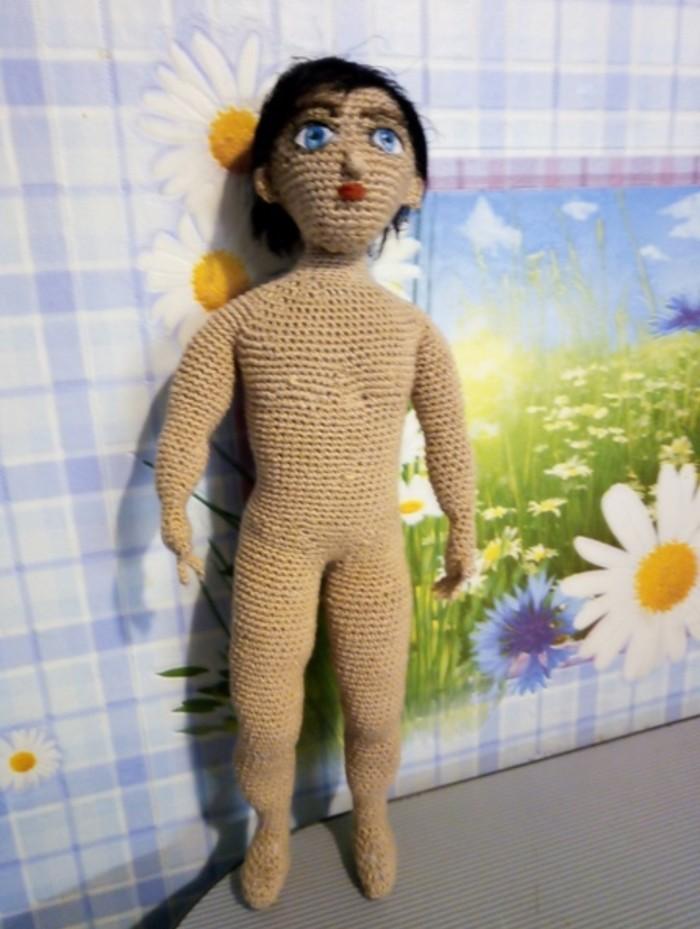 Вязаный парень Кукла, Вязание, Авторская игрушка, Длиннопост
