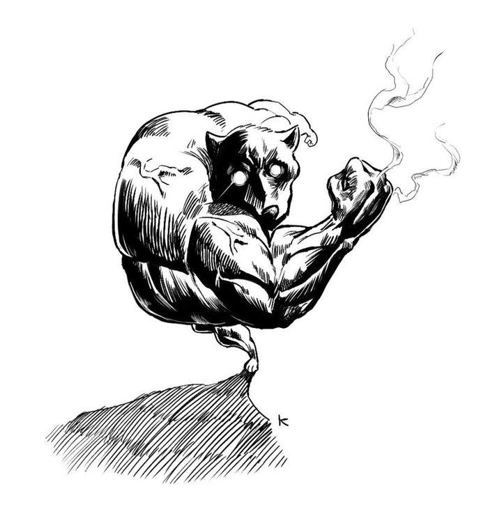 Собака-мускуляка Собака, Мускулы, Парейдолия