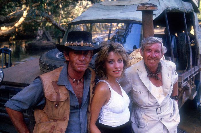 Фотографии со съёмок и интересные факты к фильму«Крокодил Данди» 1986 год. Крокодил данди, Фото со съемок, Пол Хоган, Линда Козловски, Знаменитости, VHS, 80-е, Гифка, Длиннопост