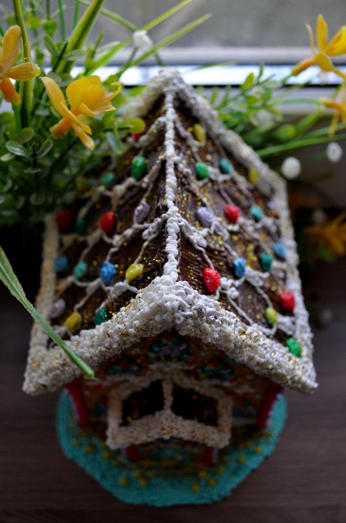 Пряничный домик из... пластика (3D ручка, пластик ABS) 3D ручка, Творчество, 3D, 3D моделирование, Хобби, Дом, Длиннопост
