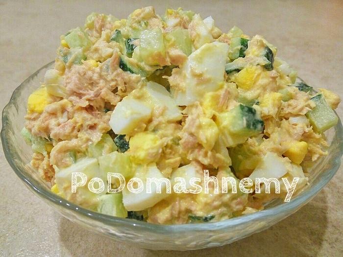 Салат с тунцом – вкусно, быстро и просто Салат, Видео рецепт, Видео, Рецепт