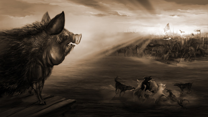 "Скотный Двор. ""Твари Англии"". Скотный двор, Джордж Оруэлл, Длиннопост, Иллюстрации, Арт, Стихи, Animal Farm, George Orwell"