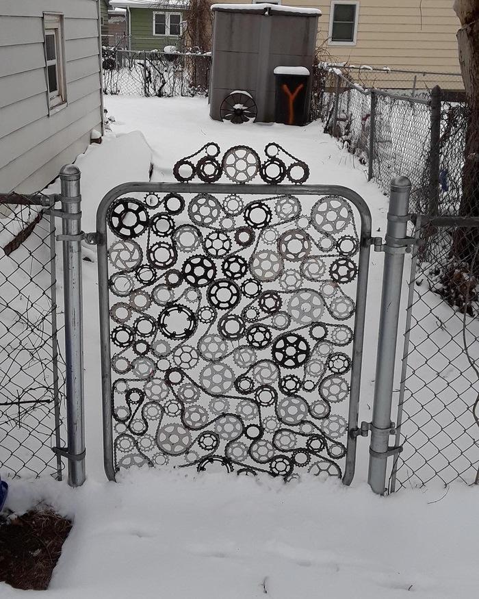 Ворота истинного велосипедиста.