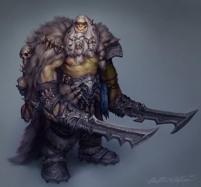 Дрек'Тар Blizzard, Арт, Орки, Kanaru92, World of Warcraft, Warcraft