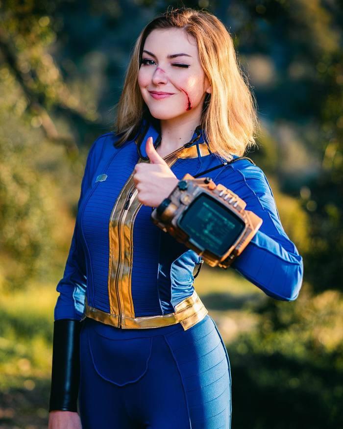 Fallout Fallout, Косплей, Игры, Pip-Boy, Kyrra Marie, Гифка, Длиннопост, Красивая девушка