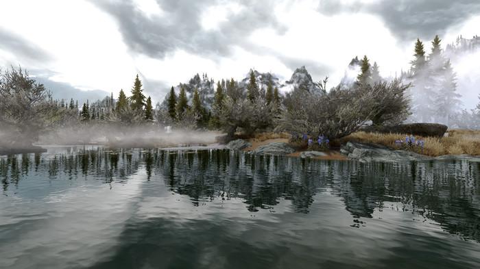 Красивая природа Скайрима Skyrim, Пейзаж, Бунт