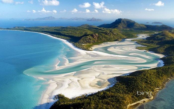 """Природа. Пляж """"Белые небеса"""". Австралия."""