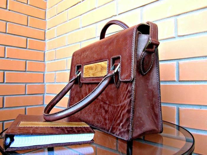 """""""Деловой портфельчик для Любимой"""" Крафт, Кожевенное ремесло, Ручная работа, Кожа, Длиннопост"""