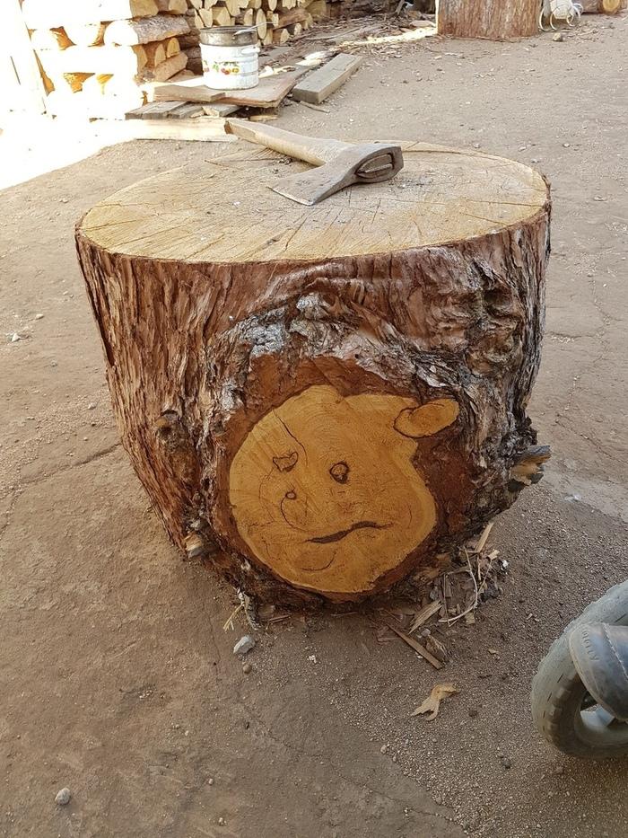 Природа рисует Рисунок, Дерево, Роспись по дереву, Дрова, Длиннопост