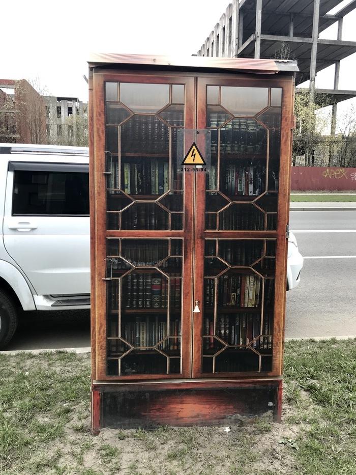Так украшают электрические шкафы в Петербурге Санкт-Петербург, Стрит-Арт, Длиннопост