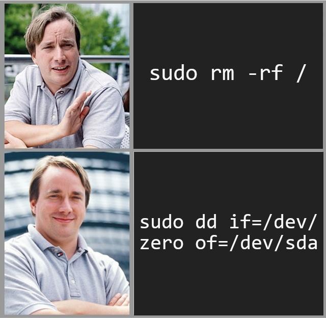 Небольшой мем на линукс-тематику)