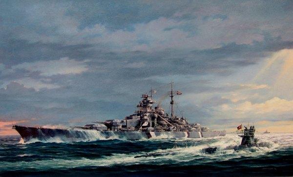 """Битва за Атлантику. """"Бисмарк"""". Маленький большой друг. Бисмарк, Флот, Kriegsmarine, Битва за Атлантику, Длиннопост, Герберт Вольфарт, u-556, Видео"""
