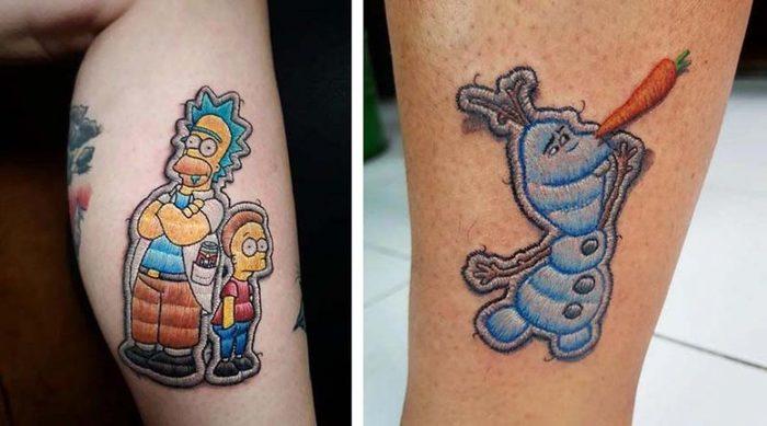 Шикарные «вышитые» татуировки от бразильского мастера Эдуардо Лозано. Тату, Вышивка, Бразилия, Длиннопост