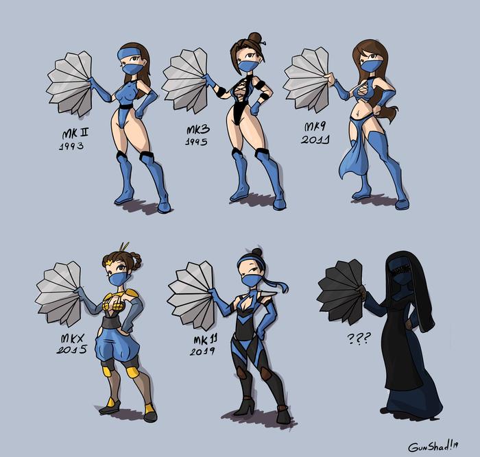 Kitana Gunshad, Fbende, Kitana, Mortal Kombat, Игры, Арт