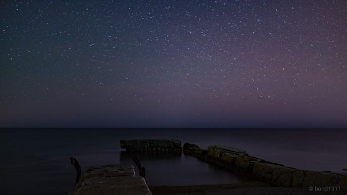 Крымские звёздные ночи Крым, Ночь, Звёзды, Море, Длиннопост