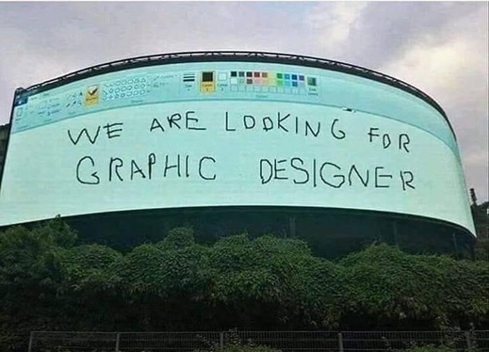Срочно нужен дизайнер, старый уволился