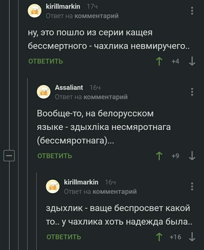 Белорусский язык Белорусский язык, Скриншот, Пикабу