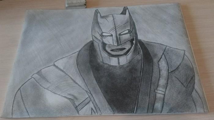 На оценку) Рисунок, Рисунок карандашом, Batman Arkham Knight, DC