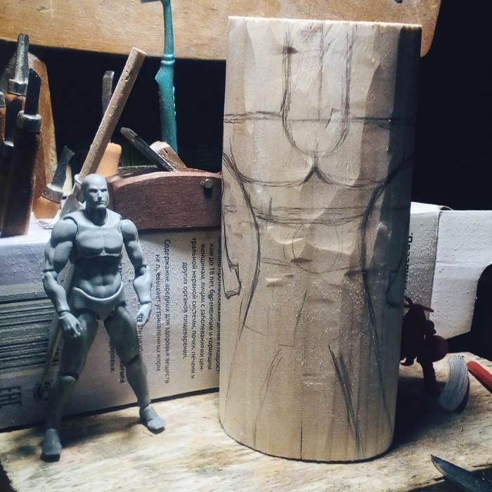 Процесс резьбы скандинавского бога ОДИНА. Материал липа, высота 21см. Скандинавская мифология, Резьба по дереву, Один, Длиннопост