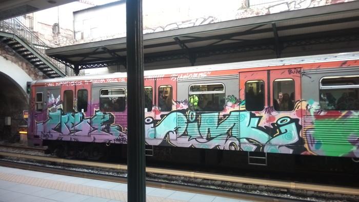 Немного транспорта Европы: Афины, Барселона, Милан Транспорт, Афины, Барселона, Милан, Видео, Длиннопост