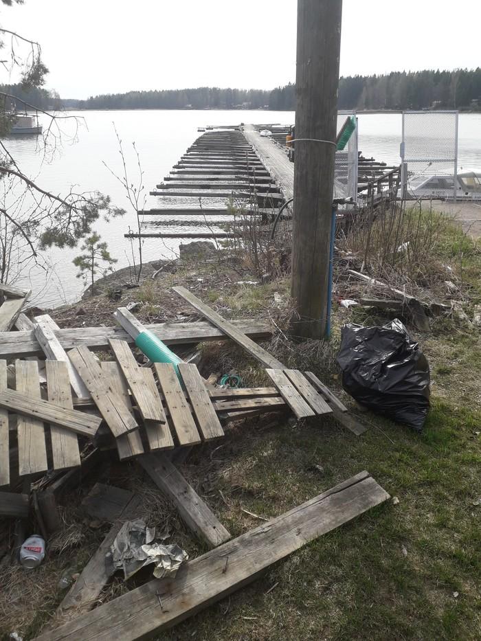 Весна покажет, кто где сqал. Спасибо чистомен, Чистомен, Финляндия, Котка, Длиннопост