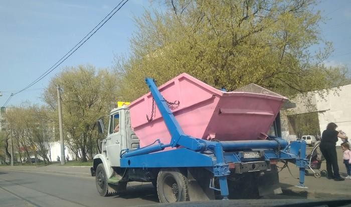 Женский контейнер Стройка, Розовый, Мусор