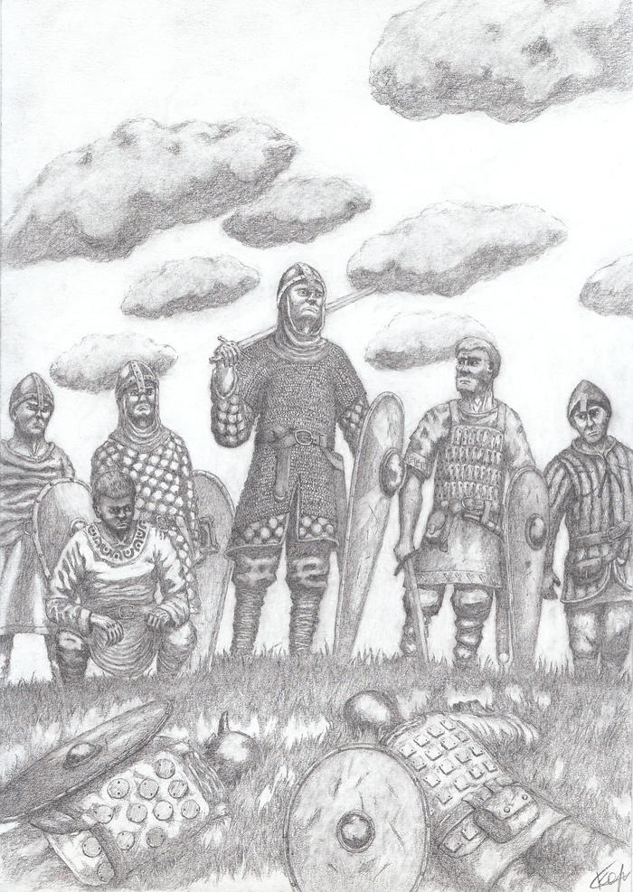Победители Графика, Карандаш, Фэнтези, Рисунок, Рисунок карандашом, Воин, Битва