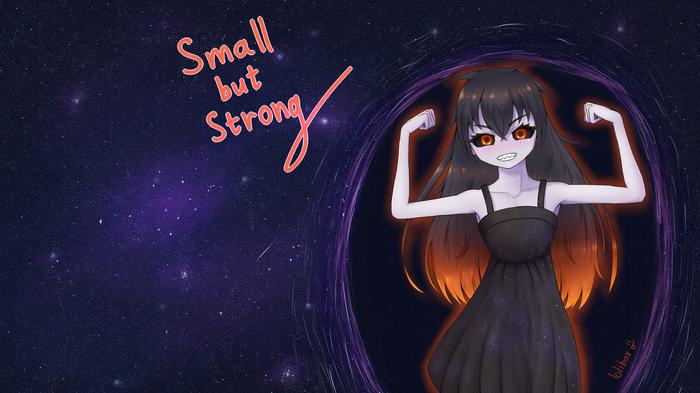 Black Hole chan Anime Art, Anime Original, Черная дыра-тян, Черная дыра, Аниме, Не аниме, Хуманизация