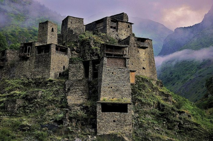Высокогорное село-крепость Шатили. Грузия Грузия, Шатили, Крепость, Фотография