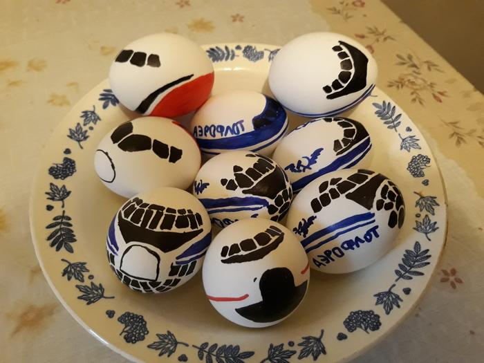 Пасхально-самолетное Гражданская авиация, Пасхальные яйца, Авиация, Длиннопост, Пасха