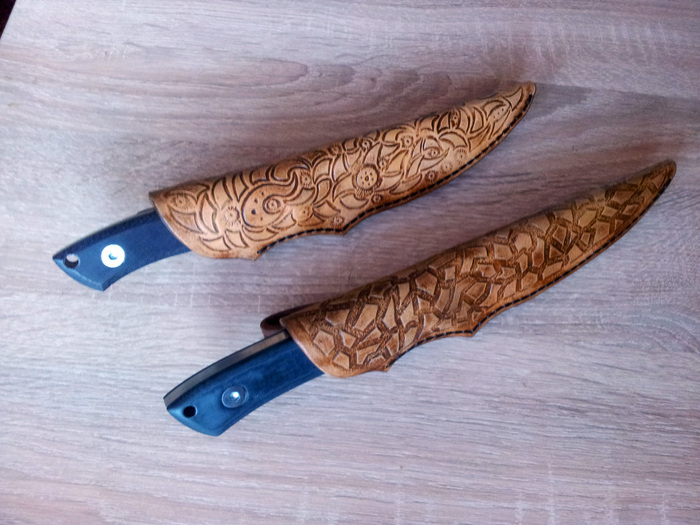 Близнецы Нож, Своими руками, Рукоделие с процессом, Напильник, Ножны, Гифка, Длиннопост
