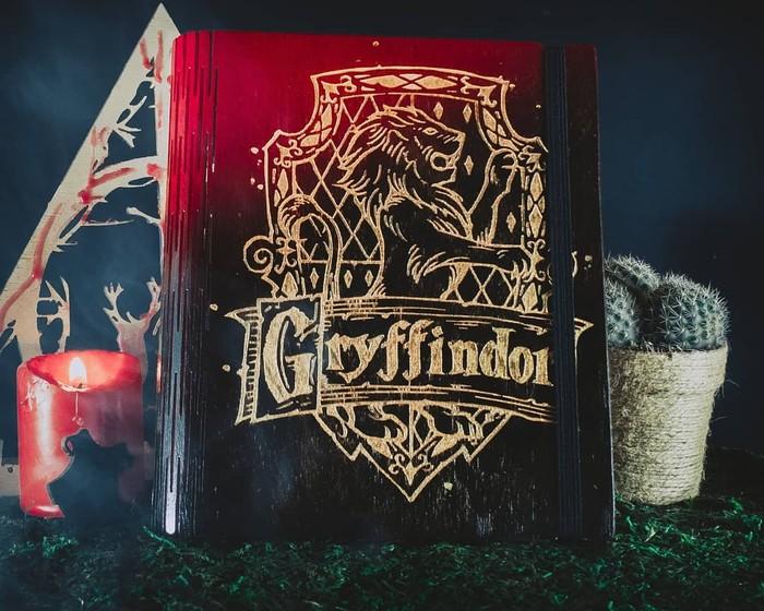 Гриффиндор Гарри Поттер, Своими руками, Блокнот, Гравировка, Скетчбук, Длиннопост