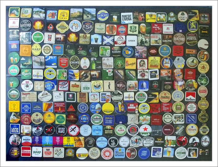 """Моя коллекция бирдекелей, они же подставки под пиво, они же """"печеньки"""" Коллекция, Бирдекель, Пиво"""