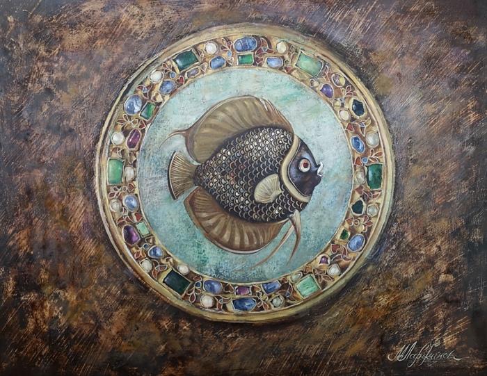 """""""Волшебная рыбка"""" Живопись, Картина маслом, Картина, Масло, Рыба, Реализм"""
