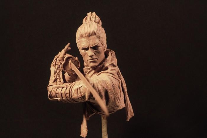 Фигурка Волка из игры Sekiro Swadows die twice Sekiro: Shadows Die Twice, Скульптура, Пластилин, Длиннопост