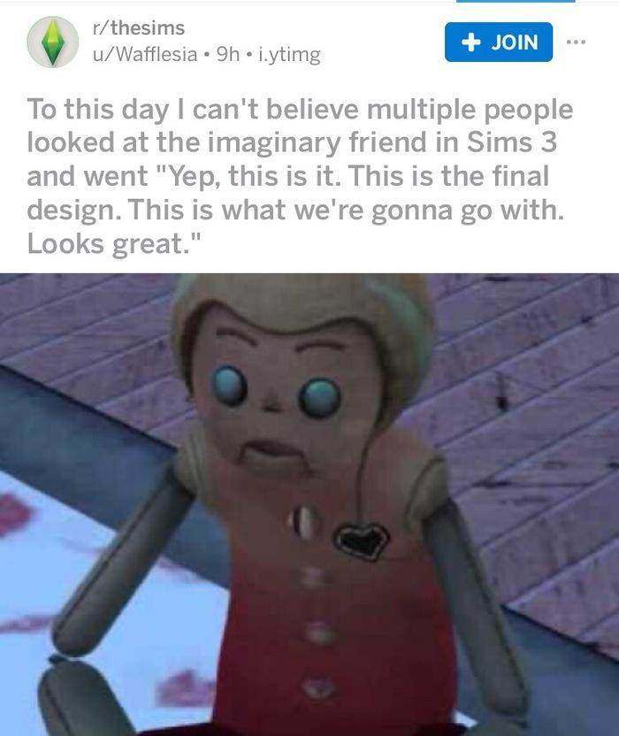 Воображаемый друг The sims, Reddit