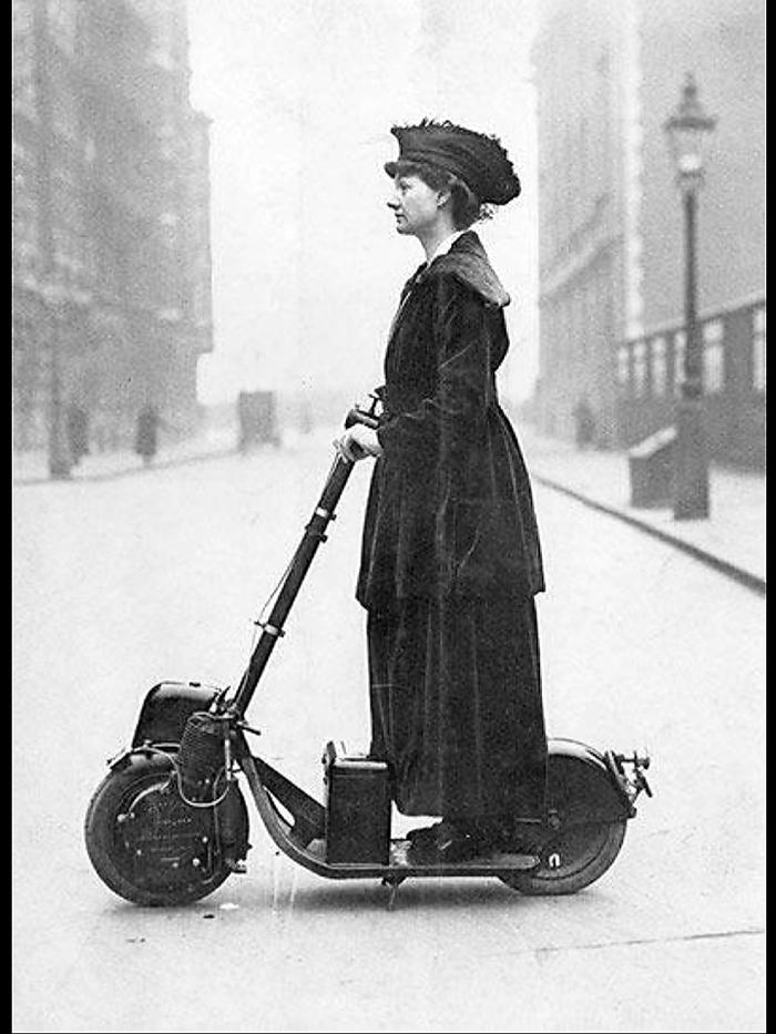 Женщина на автопеде. 1916 г. США.