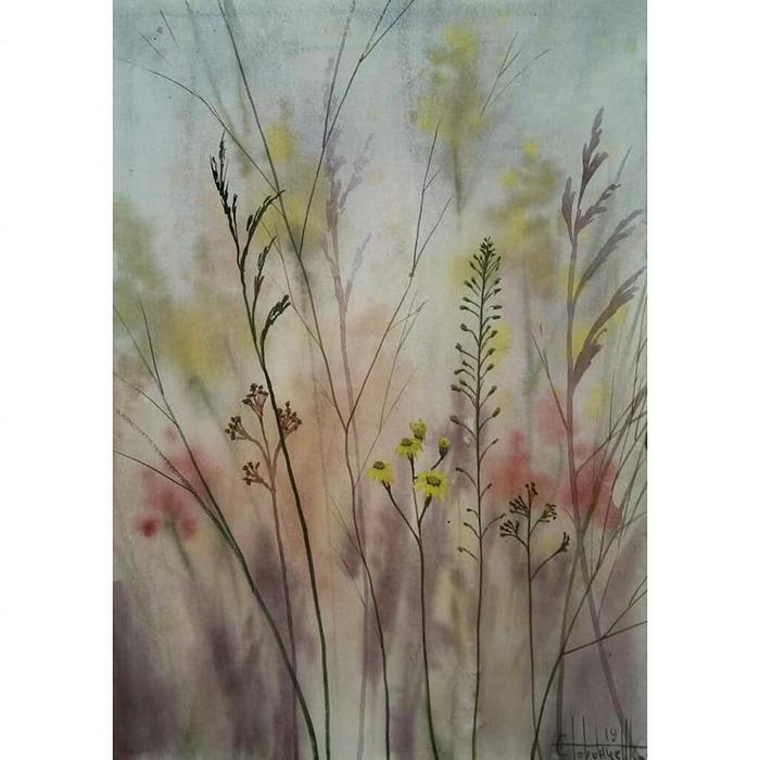 Полевые цветы (2019)Акварель