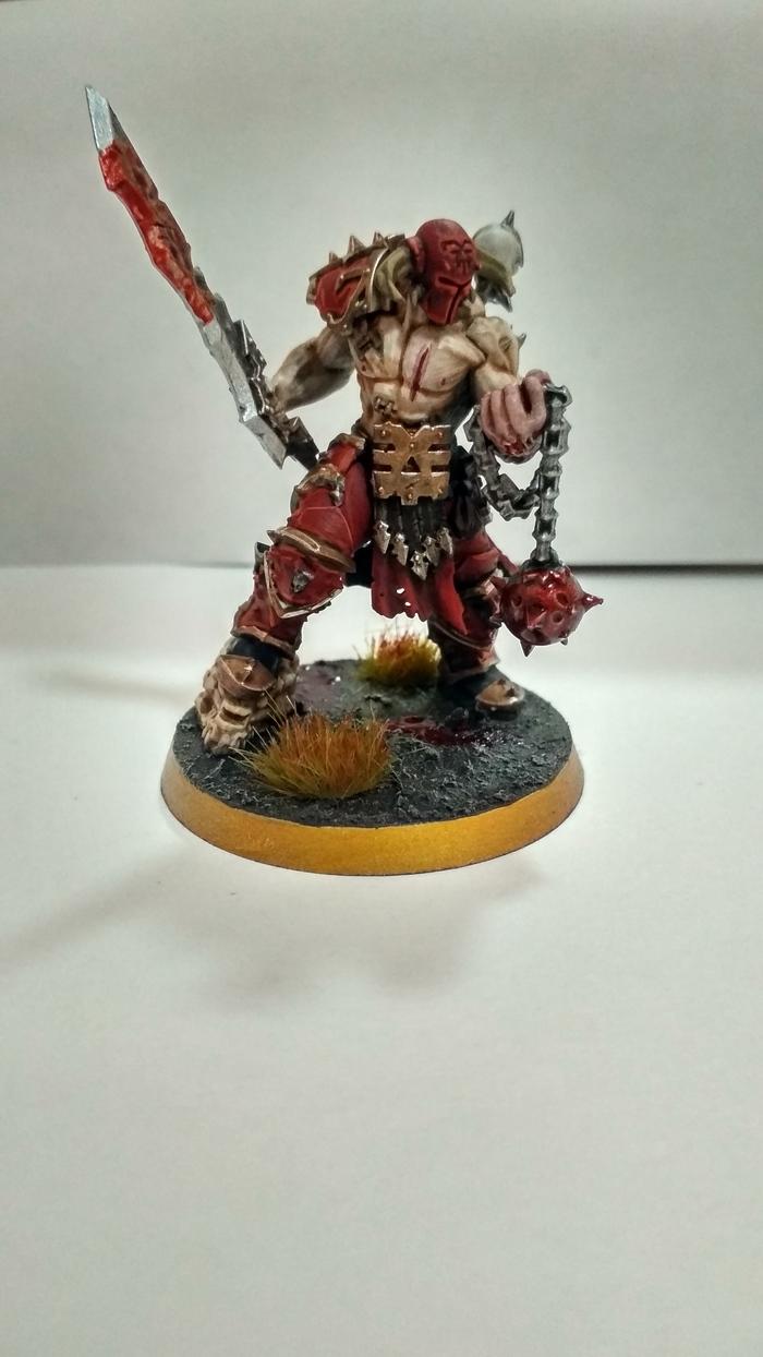 Slaughterpriest Warhammer, Warhammer: Age of Sigmar, Blades of Khorne, Хаос, Жрец, Длиннопост