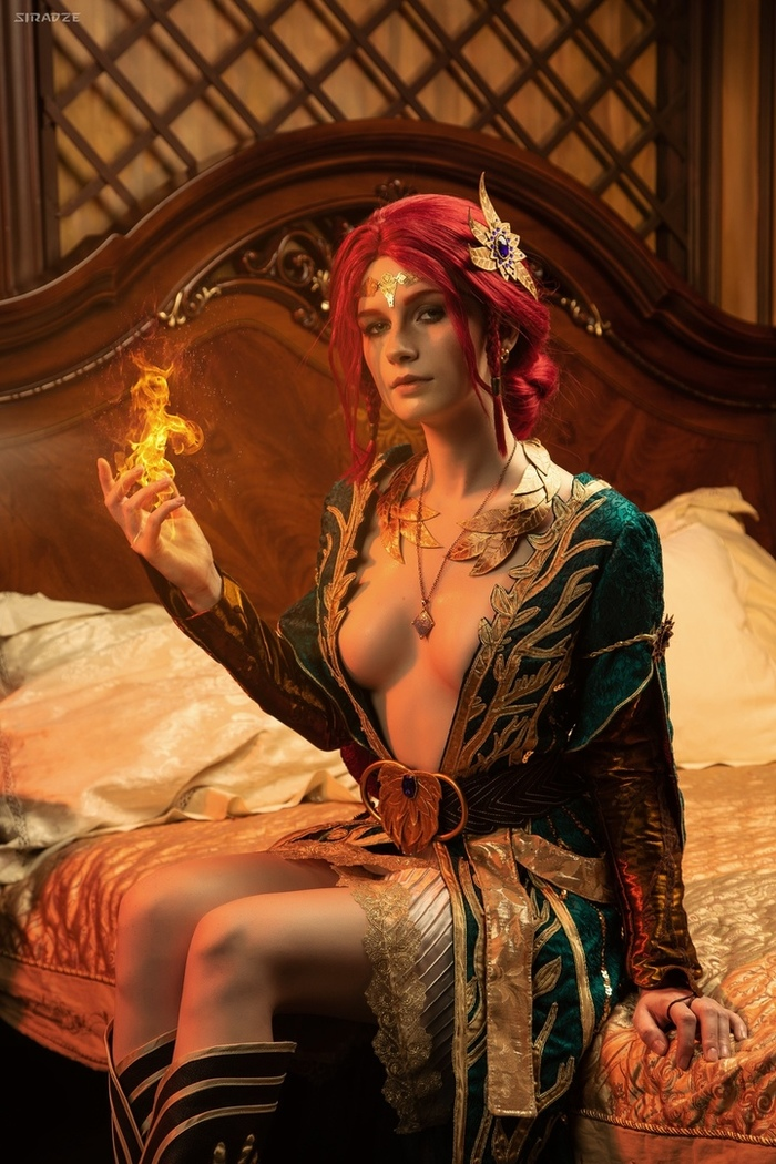 Triss Merigold from The Witcher Косплей, The Witcher 3:Wild Hunt, Игры, Девушки, Длиннопост