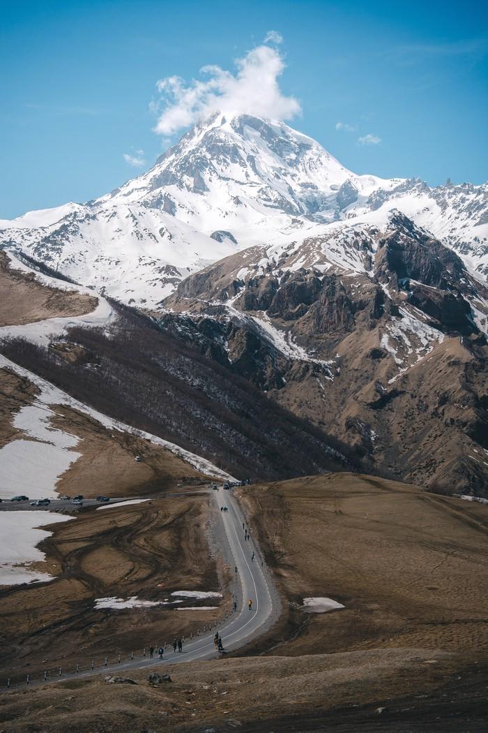 Гора Казбек Фотография, Горы, Казбек, Грузия, Длиннопост