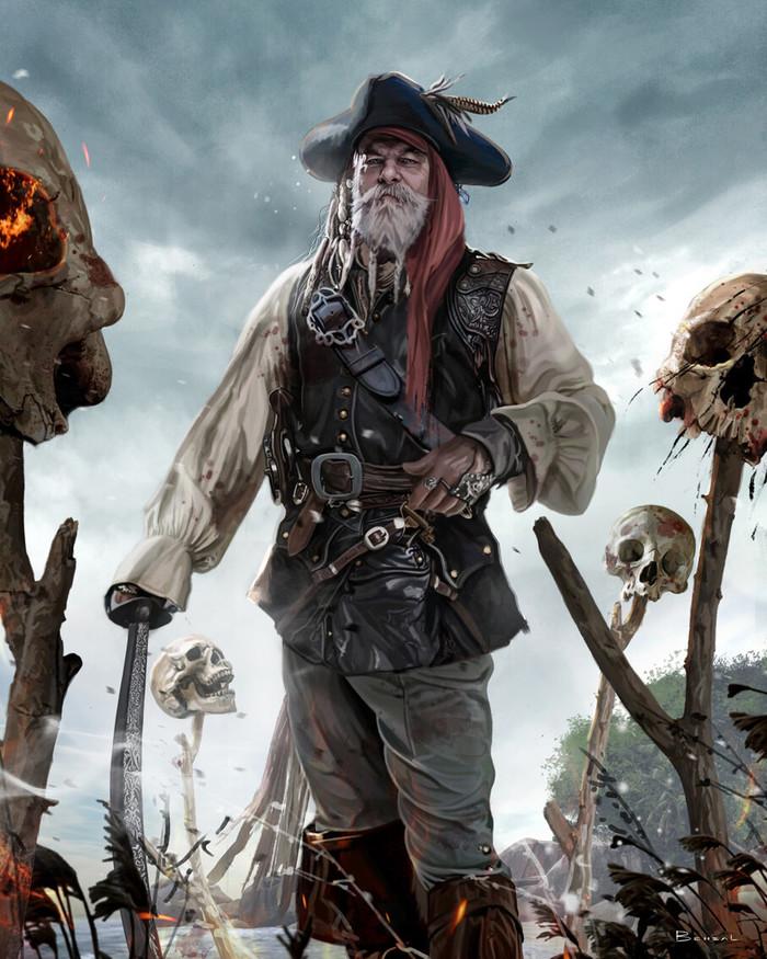 Пират Арт, Рисунок, Пираты, David benzal, Davidbenzal